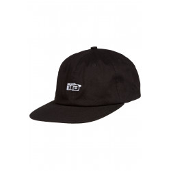 Vaux 6 Panel Cap Black