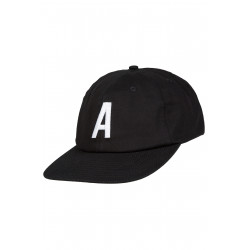 Alpha 6 Panel Cap Black