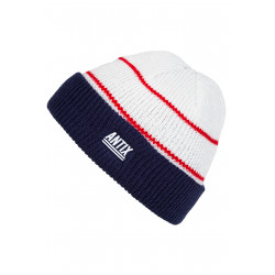 Nostra Beanie White Blue Red
