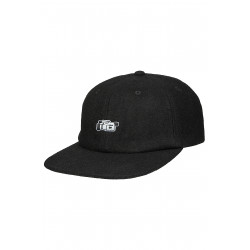Vita 6 Panel Wool Cap Black