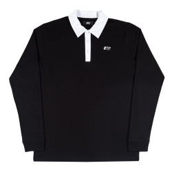 Rugby Polo T-Shirt Black